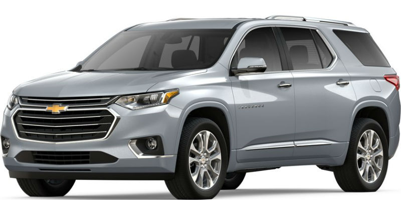 2019 Chevy Traverse in Silver Ice Metallic
