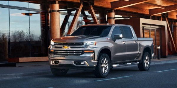 Silver 2019 Chevy Silverado with Z71 Off-Road package