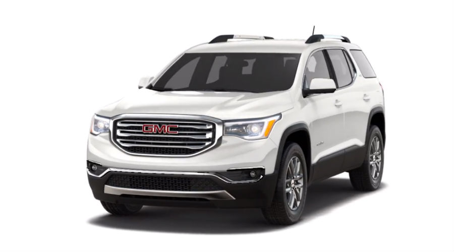 2019 GMC Acadia in White Frost Tricoat