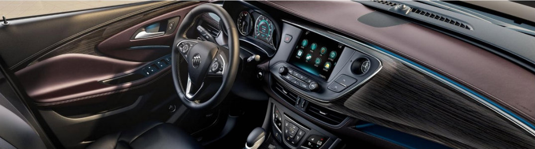 Interior of the 2016 Buick Envision