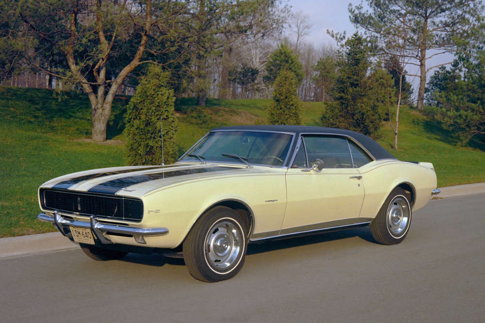 1967 Chevy Camaro Z28 on the road