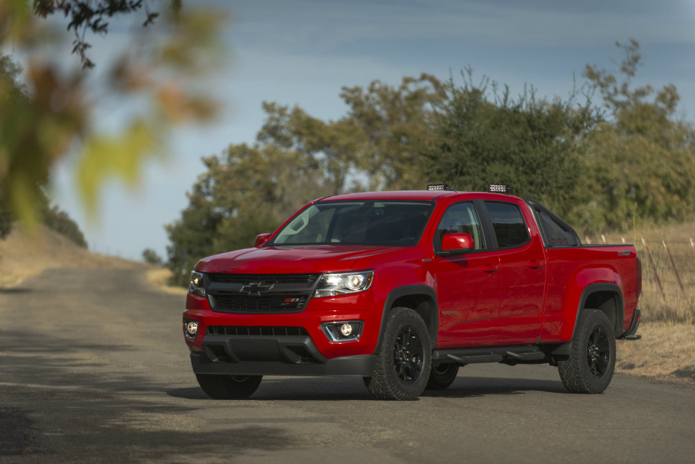 red 2016 Chevy Colorado with a diesel engine