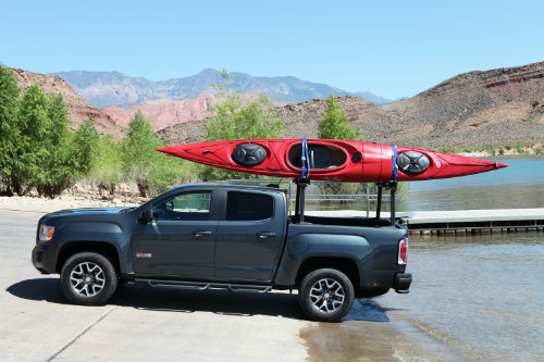 2016 GMC Canyon bringing a boat to the water