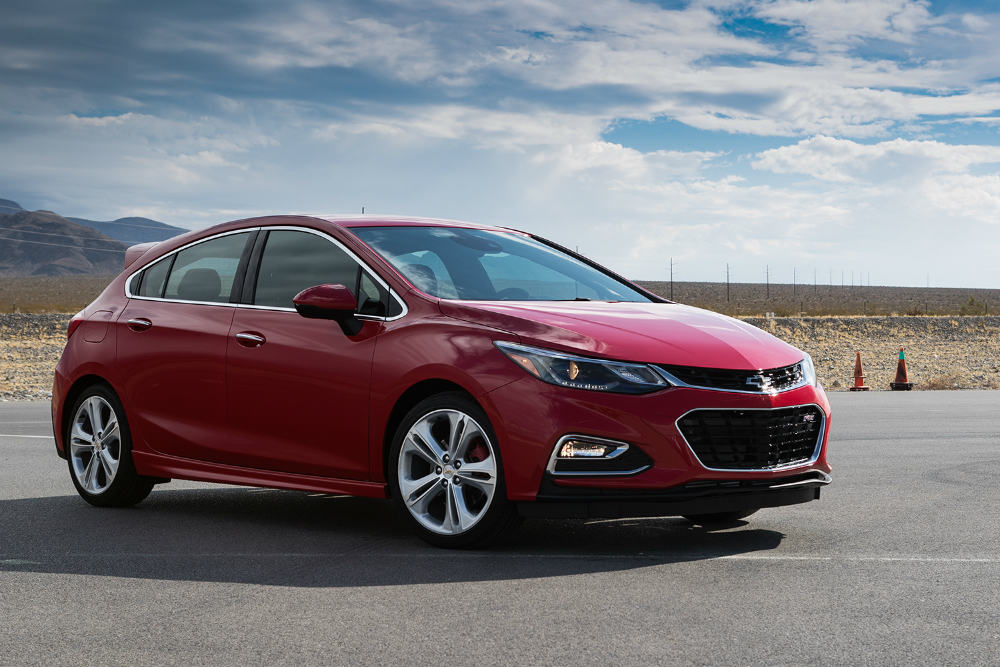 red Chevy Cruze Hatch with performance parts