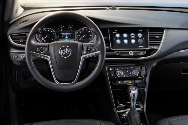 2017 Buick Encore steering wheel and dashboard view