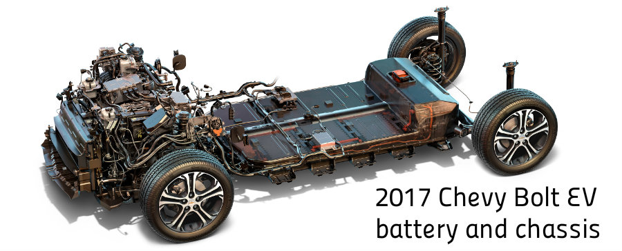2017 Chevy Bolt EV chassis and battery