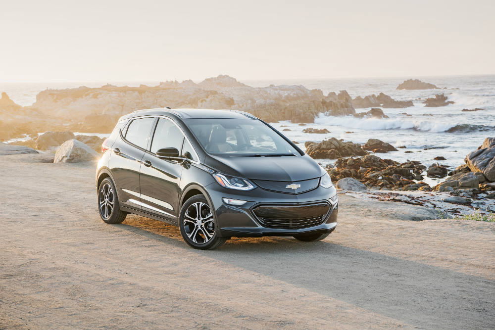 2017 Chevy Bolt EV on the road