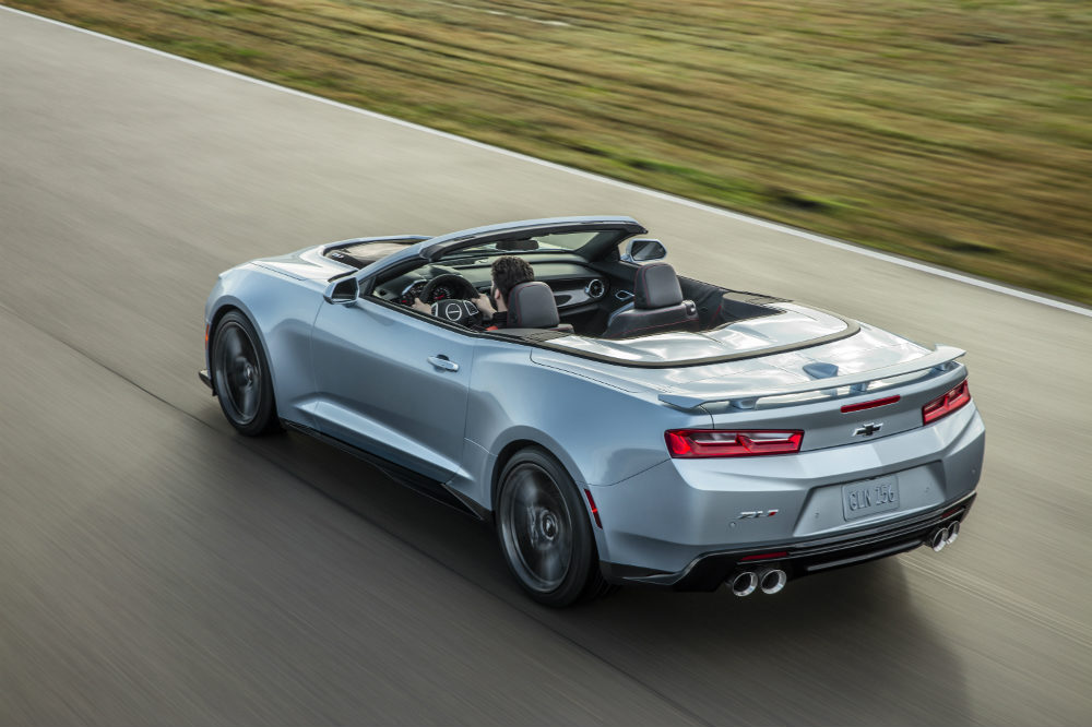 2017 Chevy Camaro ZL1 pale blue convertible