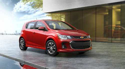 2017 Chevy Sonic hatchback in red