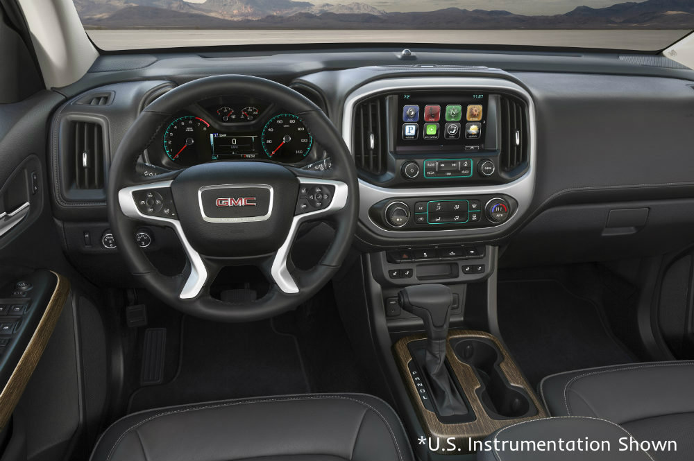 interior of the U.S. model of the 2017 GMC Canyon Denali