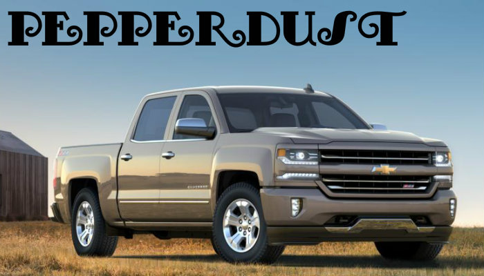 2017 Chevy Silverado 1500 in the new Pepperdust exterior colour