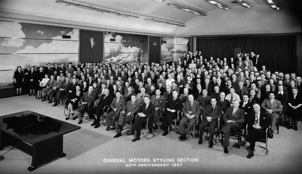 GM Styling section in the early days of automotive design