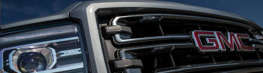 GMC branded grille close-up
