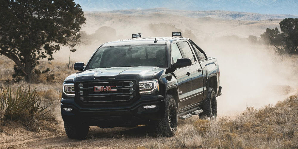2016 GMC Sierra All Terrain on the trail