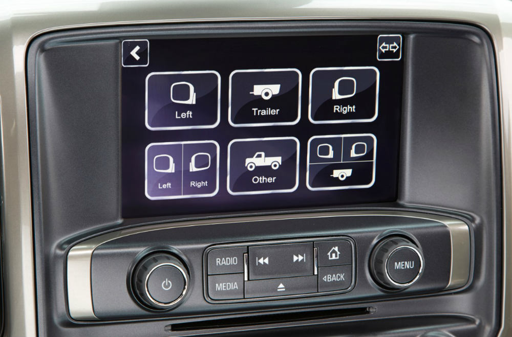 Chevy Silverado Trailering Camera System touchscreen menu
