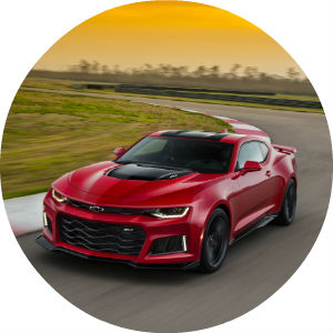 the 2017 Chevy Camaro coupe in red