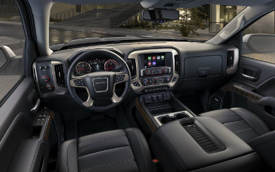 2016 GMC Sierra Denali Ultimate interior and dashboard view