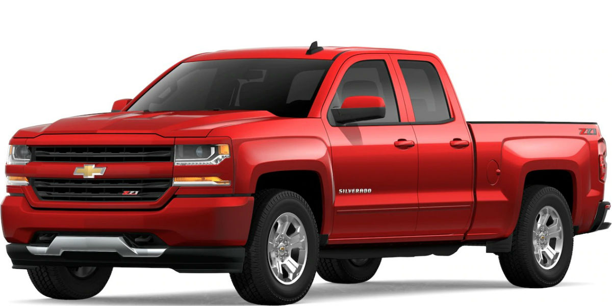 2019 Chevy Silverado in Red Hot