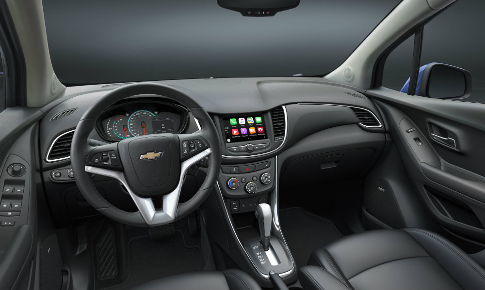 Refreshed interior of the 2017 Chevy Trax