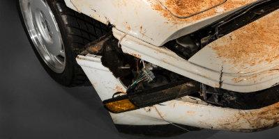 Damaged Chevy Corvette