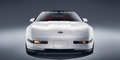 Front of restored one millionth Corvette
