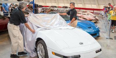 Restored one millionth Corvette
