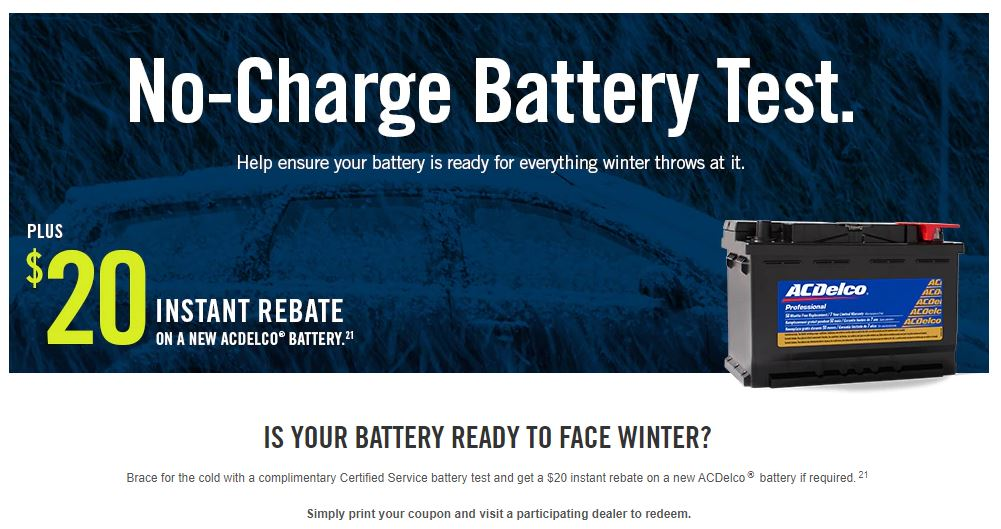 No-Charge Battery Test