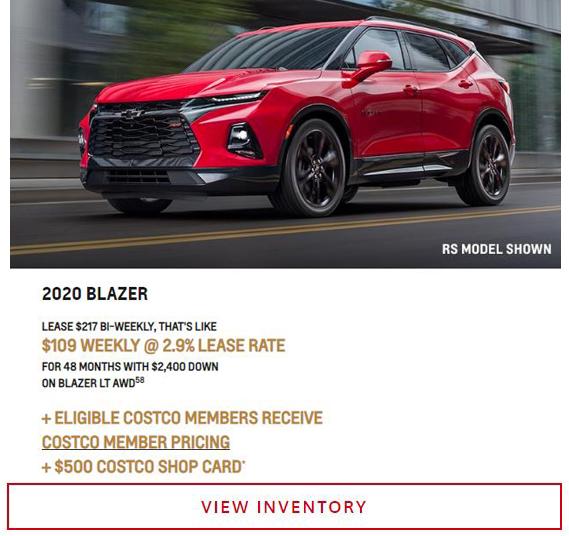 2020 Blazer near Winnipeg, MB