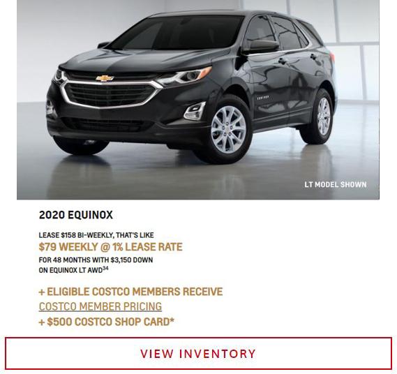 2020 Chevy Equinox near Winnipeg, MB