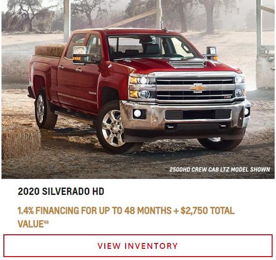 2020 Silverado HD Near Winnipeg, MB