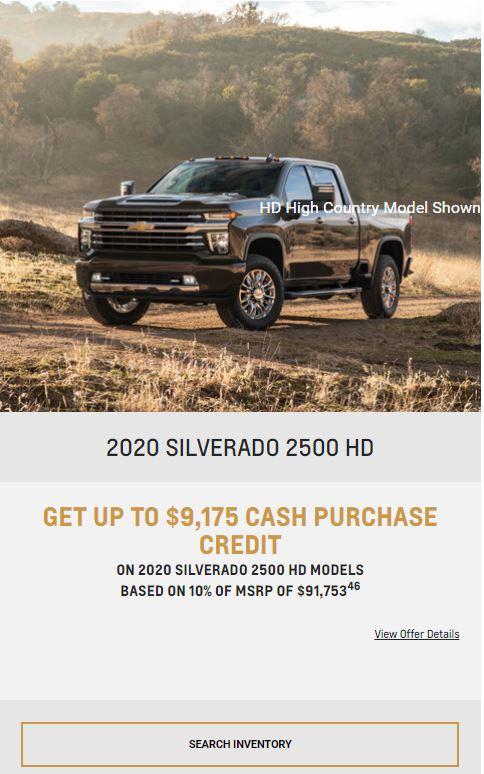 2020 Silverado 2500 Winnipeg MB