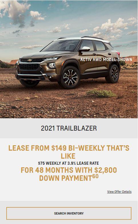 2021 TrailBlazer Winnipeg, MB