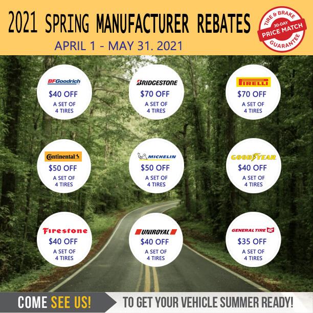 2021 Tire Rebates