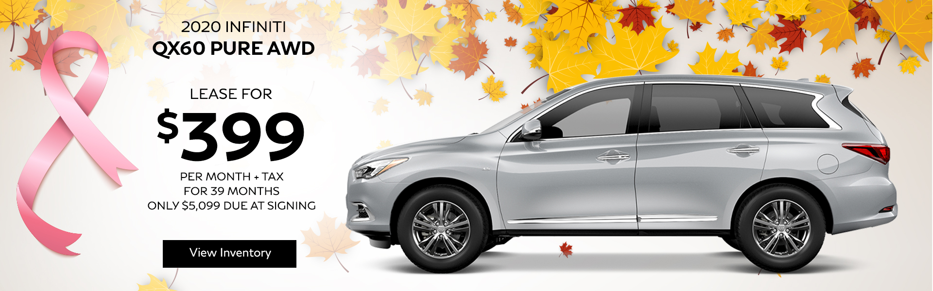 QX60 PURE - Lease for $449