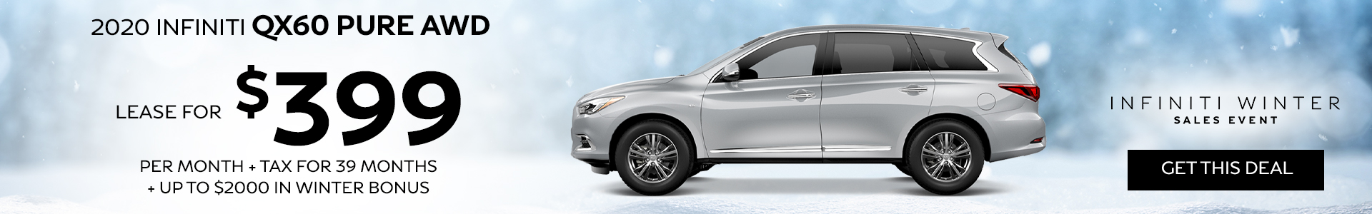 QX60 PURE - Lease for $299