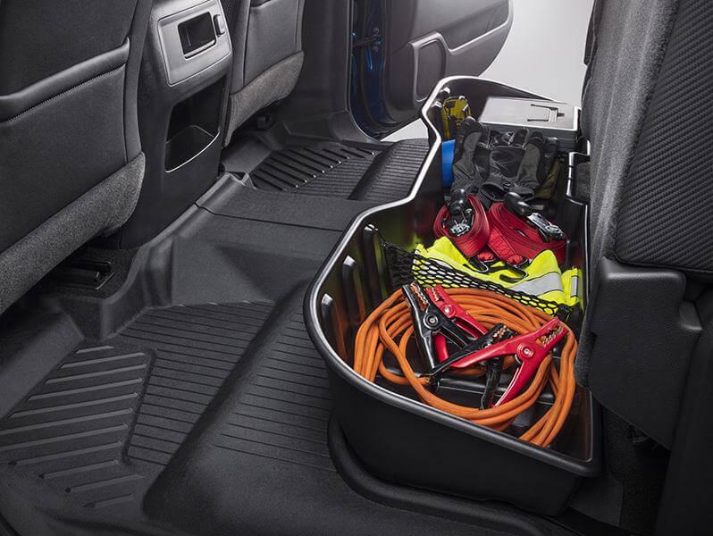 Rear underseat storage