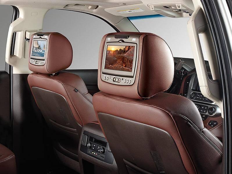 rear headrest mounted screens
