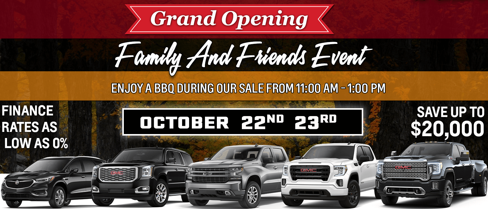 Family and Friends event