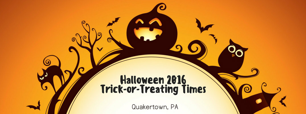 2016 Trick or Treat Times in Quakertown PA