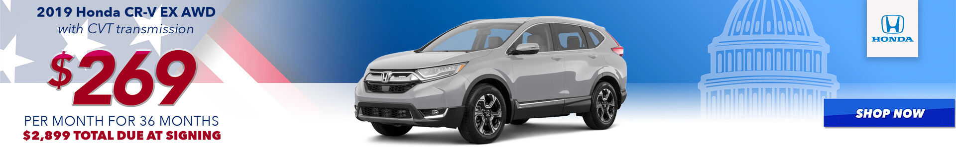 2019 CR-V - Lease for $269