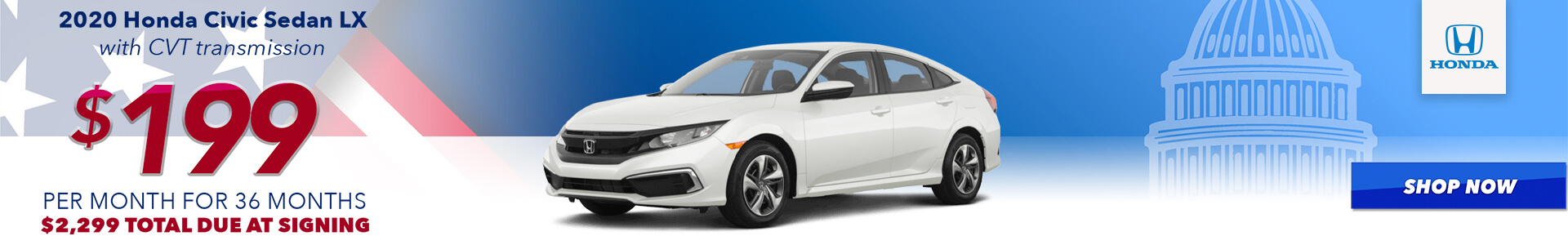 2020 Civic - Lease for $199