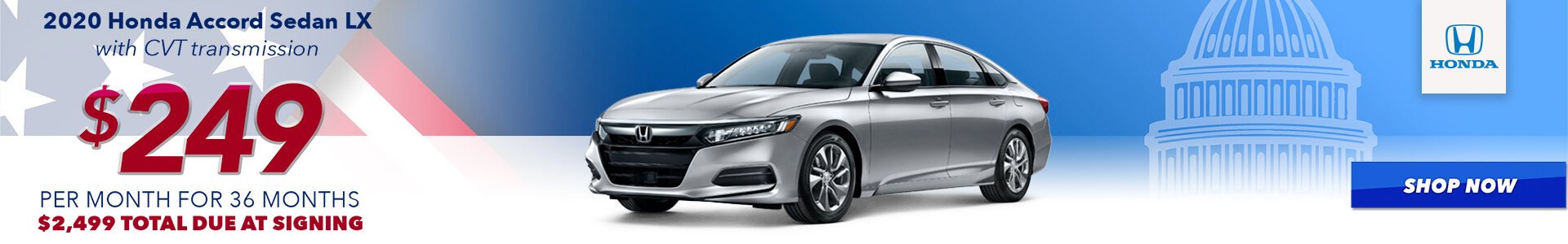 2020 Accord - Lease for $249