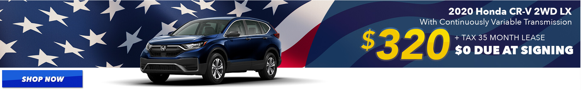 2020 CR-V - Lease for $320