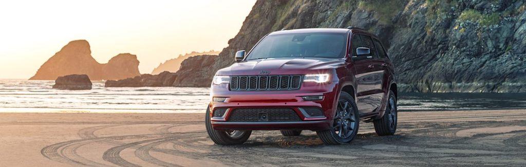 2020 Jeep Grand Cherokee on the beach