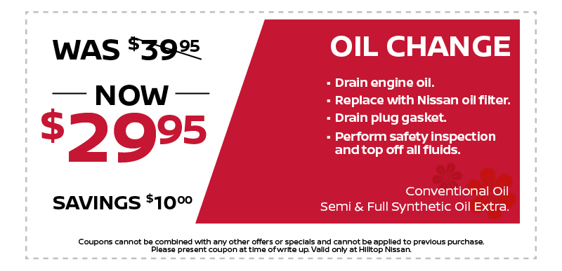 OIL CHANGE NOW $29.95