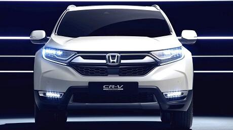 LED Headlights on the 2021 Honda CR-V available at Midlands Honda