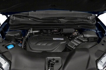 Engine appearance of the 2021 Honda Pilot available at Midlands Honda