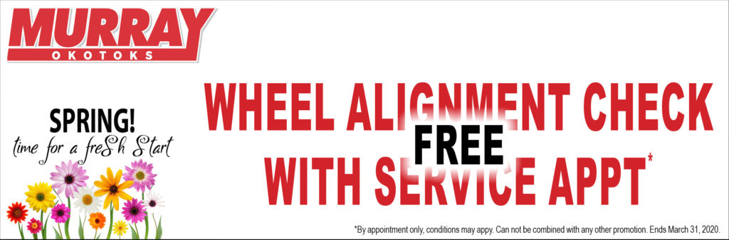 Free Wheel Alignment Check with Service Appointment