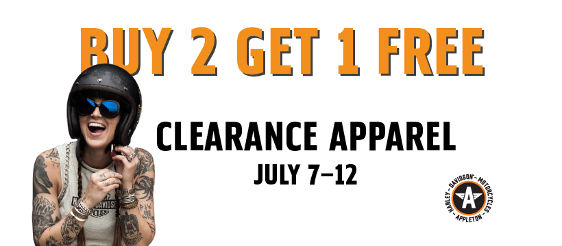 Buy 2 Get 1 Free Clearance Apparel