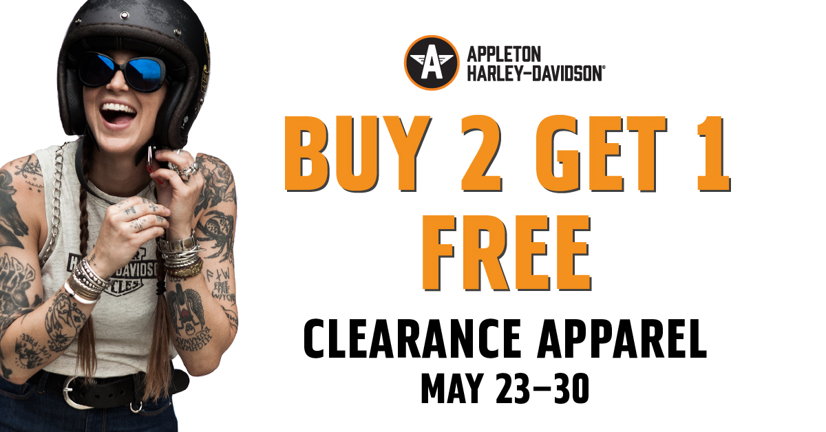 Buy 2 Get 1 Free Clearance Apparel May 23-30